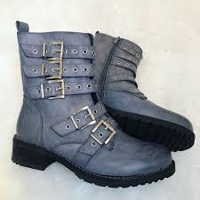 grey motorcycle boots biker boy boots grey jodie marsh