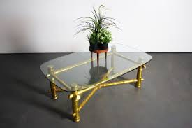 hollywood regency gold leaf faux bamboo coffee table u2013 abt modern