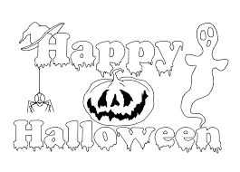 free halloween color pages happy halloween coloring pages online olegandreev me