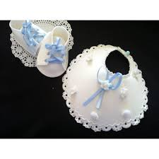 baby shower cake decorations baptism cake topper bib and baby