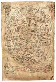Corpus Christi Map The Sawley Map Pen And Parchment Drawing In The Middle Ages