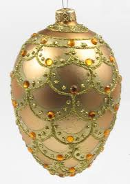 faberge egg style ornament blown and painted