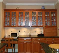 kitchen dark cherry wall cabinets glass door astounding