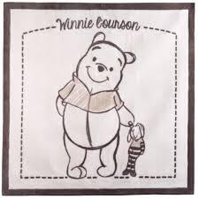 tapis de chambre winnie l ourson winnie tapis 140x140 beige de disney baby tapis aubert