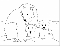 remarkable coloring pages polar bear cartoon polar bear