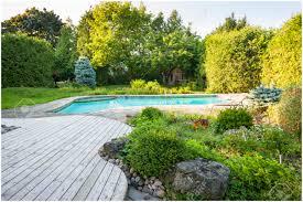 Modern Rock Garden by Backyards Wondrous Paved Backyard Small Paved Backyard Ideas