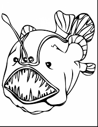 marvelous deep sea fish coloring pages with rainbow fish coloring