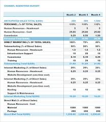 Excel Spreadsheet Budget Template Marketing Budget Template 17 Free Word Excel Pdf Documents