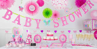 baby shower decorations for a girl welcome baby girl baby shower decorations party city