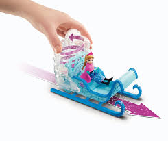 frozen power wheels sleigh amazon com disney frozen swirling snow sleigh toys u0026 games