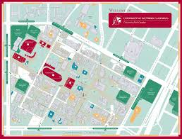 Southern Ca Map University Of Southern California Campus Map University Park Los