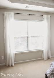 Plain White Curtains Decorating Cents Diy Fabric Trimmed Curtains