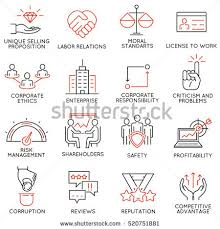 vector set linear icons related business stock vector 666471718
