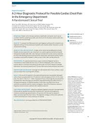 Insurance Resume Objective Examples by 2 Hour Diagnostic Protocol For Cardiac Chest Pain Acute Coronary