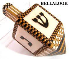 large dreidel estate artisan signed sms colorful ceramic hanukkah dreidel
