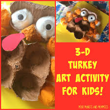 mini monets and mommies 3 d thanksgiving turkey craft for kids