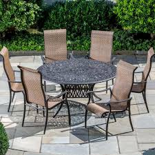 7 Piece Aluminum Patio Dining Set - amazon com alfresco home charter cast aluminum 6 seat dining set
