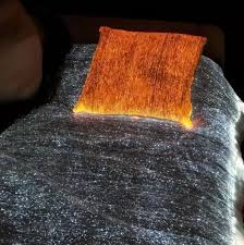 a optic fiber glow in blanket the description from the site