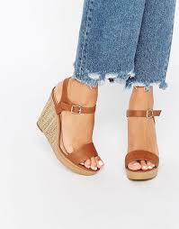 Images of Brown Tan Wedge Sandals