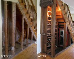 under stair bar small places furniture under stairs storage