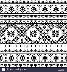ukraine pattern vector traditional folk knitted red embroidery pattern from ukraine or