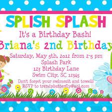 kids birthday party invitation wording invitations templates
