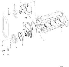 Ford 390 Water Pump Mercruiser 502 Mag Mpi Bravo Gen Vi Gm 502 V 8 1998 0l017000