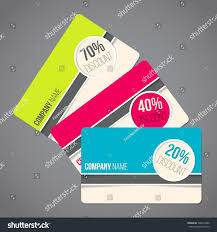 gift card discounts gift card set various colors discounts stock vector 348616880