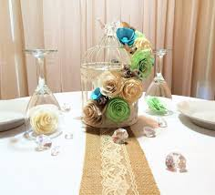 Bird Cage Decor Floral Birdcage Birdcage Wedding Centerpieces Mint Green Paper