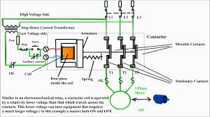 three phase motor control circuit difference between relay and