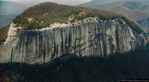 table rock mountain sc aerial waterfall photography in the blue ridge mountains