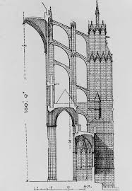flying buttress a a elevations drawings flying buttress cathedral of st pierre