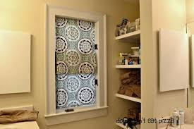 Curtains Inside Window Frame Faux Roman Shades From Shower Curtains The Diy Bungalow