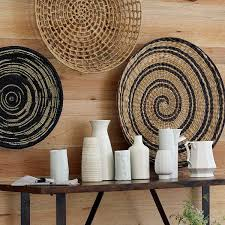 decorating home with ethnic wicket dishes and bowls adding tones