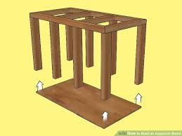 How To Build An End Table 3 Ways To Build An Aquarium Stand Wikihow