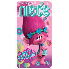 birthday cards for niece fantastic niece trolls birthday card 242331 character brands
