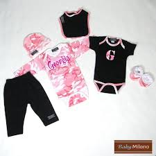 monogram baby items personalized pink camo baby clothes 6 pc set baby