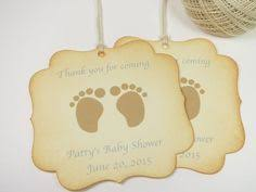 Baby Shower Favor Messages - baby shower favor tags with antique baby by wildsugarberries