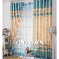 Teal Nursery Curtains Blue And Yellow Star Dreamy Unique Eco Friendly Nursery Kids Curtains