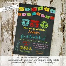 uno birthday shower invitations mexican