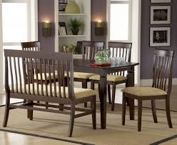 furniture sturdy dining table with bench dark brown finish