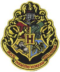 amazon com harry potter the 4 houses of hogwarts crest patch 4 1 2
