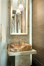 Powder Room Towels - modern mountain homes powder room rustic with stone walls