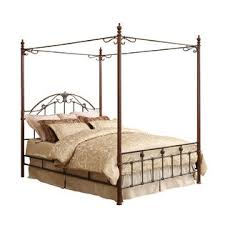 oxford creek queen size wood and metal canopy bed home