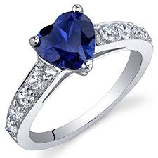 blue sapphires rings images Dazzling love 1 75 carats created blue sapphire ring jpg