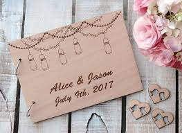 personalized wedding photo albums jar rustic wedding guest book wedding party sign in