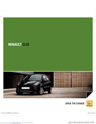traction control renault clio 2012 x85 3 g user manual