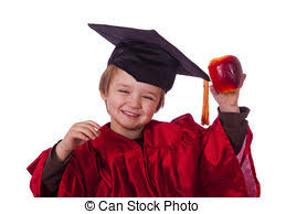 infant graduation cap and gown graduation kid boy in a graduation cap and gown stock