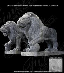 marble lions antique gray marble lions marble statue animal beautiful