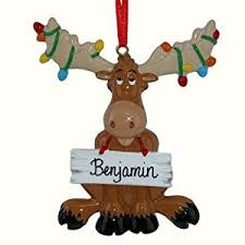 moose personalized ornament home kitchen